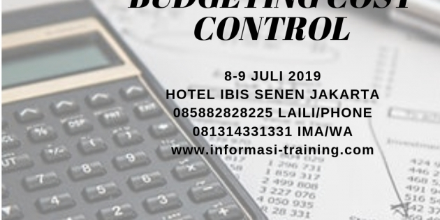 EFFECTIVE BUDGETING & COST CONTROL – Pasti Jalan